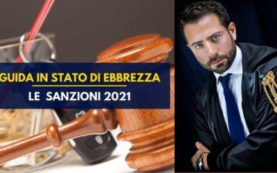 Guida in stato di ebbrezza: le sanzioni 2021